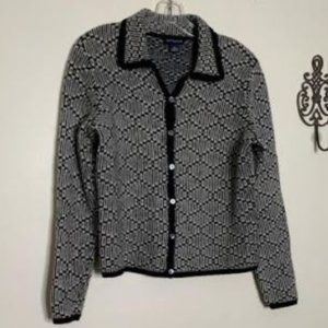 Ann Taylor Lambs Wool Button Front Sweater Sz S